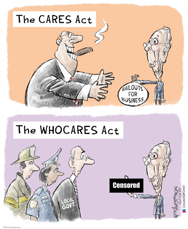 Cartoonist Nick Anderson  Nick Anderson's Editorial Cartoons 2020-05-02 state