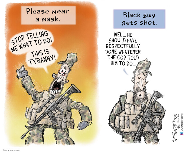 Cartoonist Nick Anderson  Nick Anderson's Editorial Cartoons 2020-05-08 rights