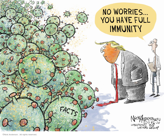 Cartoonist Nick Anderson  Nick Anderson's Editorial Cartoons 2020-05-26 immunity