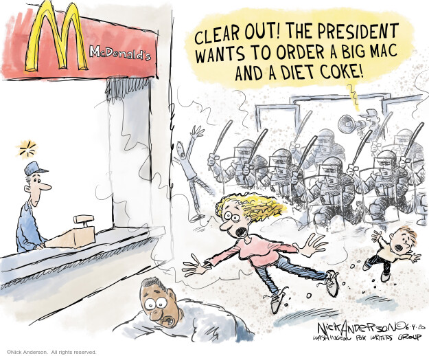 Nick Anderson  Nick Anderson's Editorial Cartoons 2020-06-04 Donald Trump
