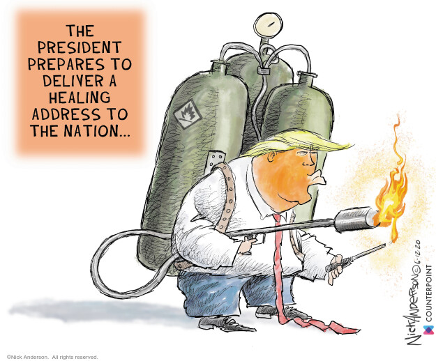 Cartoonist Nick Anderson  Nick Anderson's Editorial Cartoons 2020-06-12 rhetoric