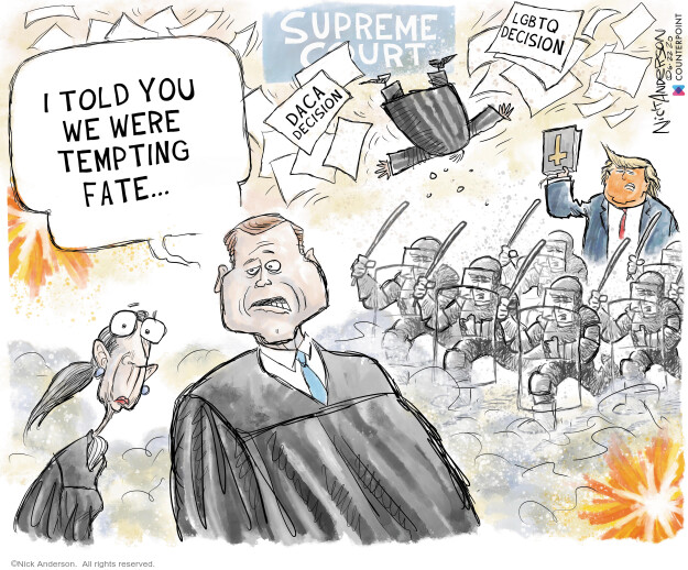Nick Anderson  Nick Anderson's Editorial Cartoons 2020-06-22 judge