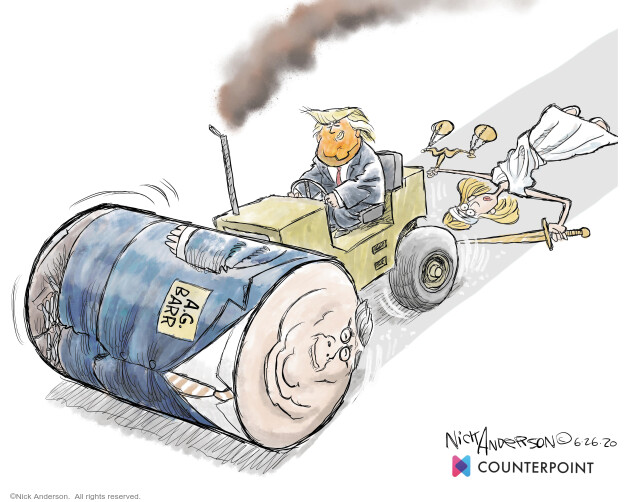 Nick Anderson  Nick Anderson's Editorial Cartoons 2020-06-26 justice