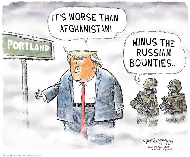 Nick Anderson  Nick Anderson's Editorial Cartoons 2020-07-23 presidential election