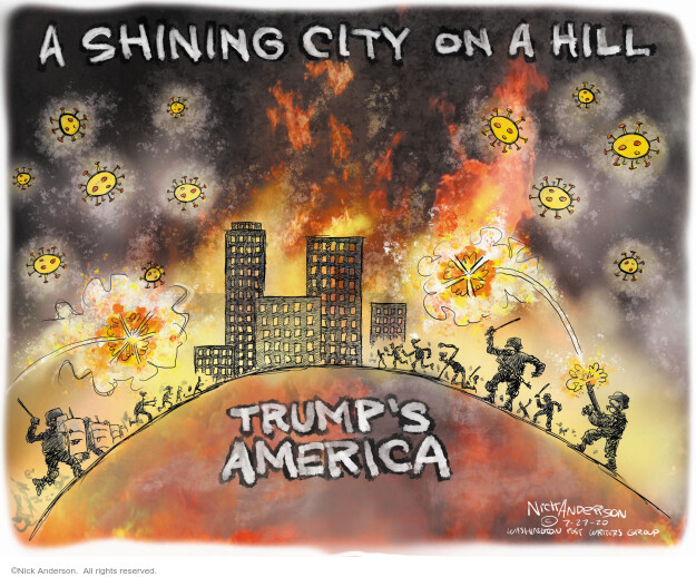 Nick Anderson  Nick Anderson's Editorial Cartoons 2020-07-27 America