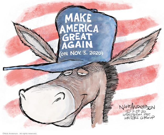 Nick Anderson  Nick Anderson's Editorial Cartoons 2020-07-29 presidential election
