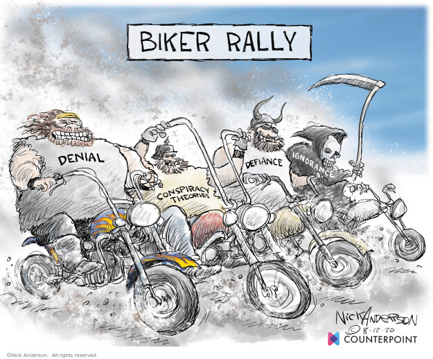 Nick Anderson  Nick Anderson's Editorial Cartoons 2020-08-12 Corona