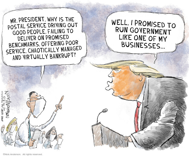 Nick Anderson  Nick Anderson's Editorial Cartoons 2020-08-21 2020 election