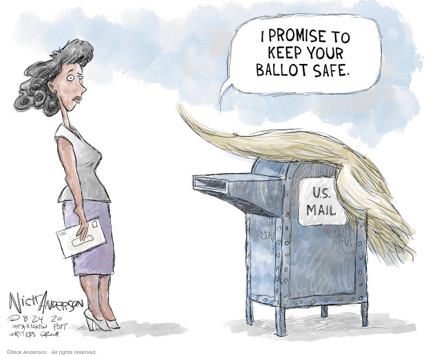 Nick Anderson  Nick Anderson's Editorial Cartoons 2020-08-24 2020 election