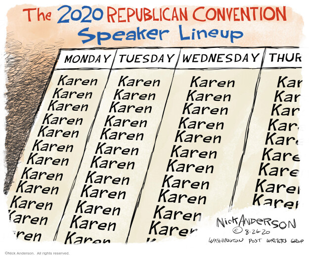 Nick Anderson  Nick Anderson's Editorial Cartoons 2020-08-26 politics