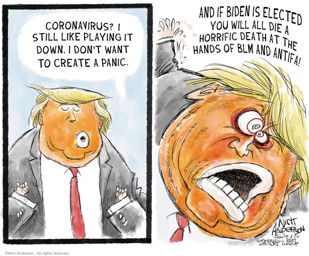 Nick Anderson  Nick Anderson's Editorial Cartoons 2020-09-11 Corona