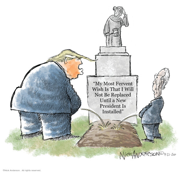 Nick Anderson  Nick Anderson's Editorial Cartoons 2020-09-21 judge