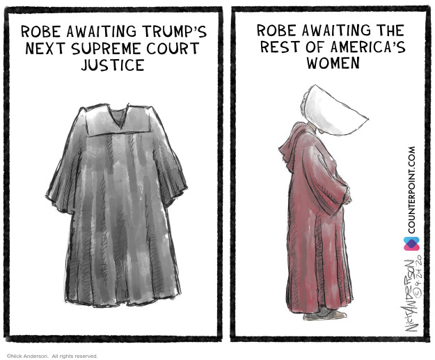 Nick Anderson  Nick Anderson's Editorial Cartoons 2020-09-25 judge
