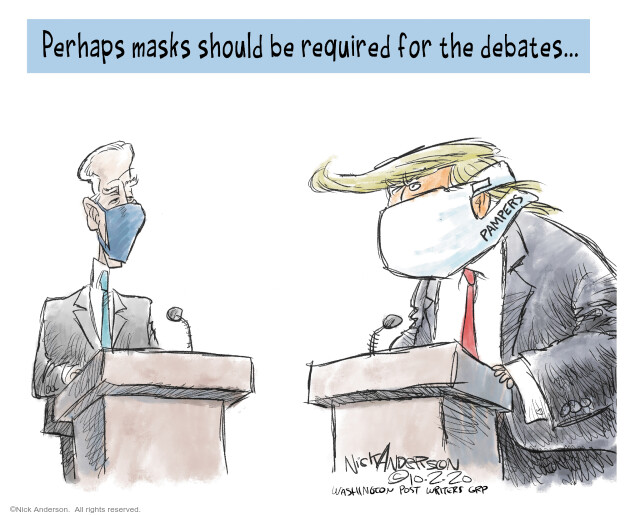 Nick Anderson  Nick Anderson's Editorial Cartoons 2020-10-02 2020 election