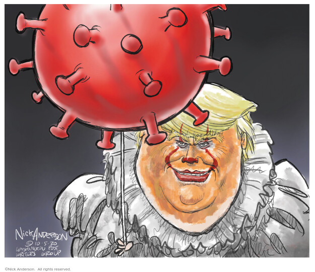 Nick Anderson  Nick Anderson's Editorial Cartoons 2020-10-10 Corona