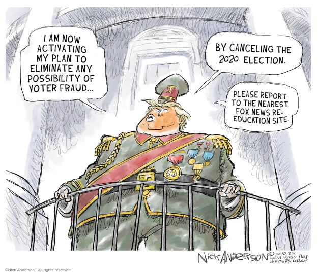 Nick Anderson  Nick Anderson's Editorial Cartoons 2020-10-15 voter fraud