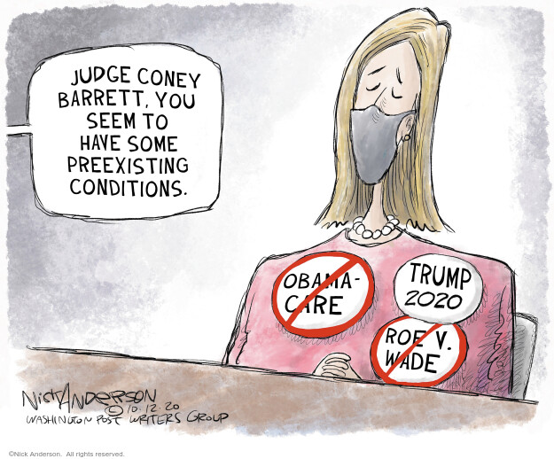 Nick Anderson  Nick Anderson's Editorial Cartoons 2020-10-16 hearing