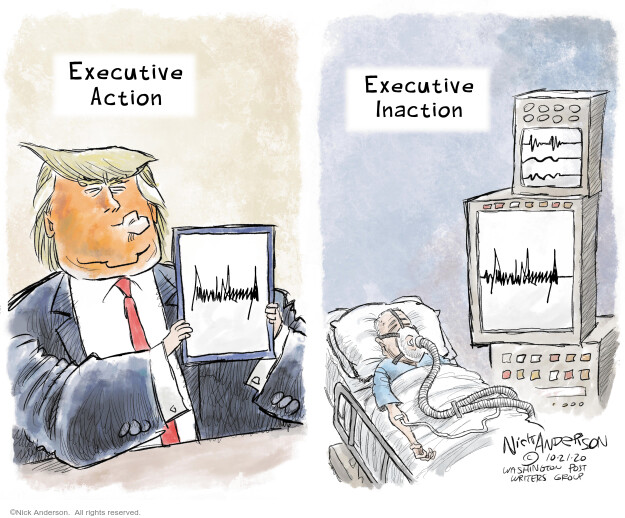 Nick Anderson  Nick Anderson's Editorial Cartoons 2020-10-21 Corona