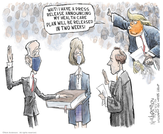 Nick Anderson  Nick Anderson's Editorial Cartoons 2020-11-05 health