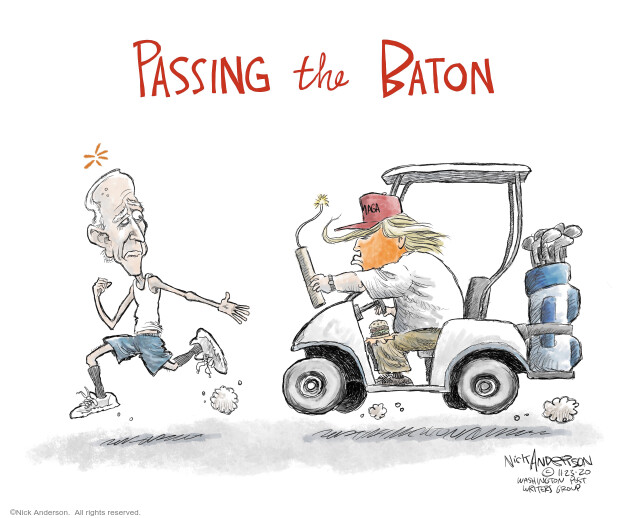 Nick Anderson  Nick Anderson's Editorial Cartoons 2020-11-23 Donald Trump Joe Biden