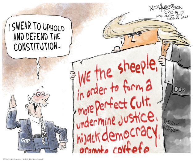 Nick Anderson  Nick Anderson's Editorial Cartoons 2020-12-14 democracy