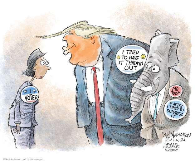 Nick Anderson  Nick Anderson's Editorial Cartoons 2021-01-04 Donald Trump Joe Biden