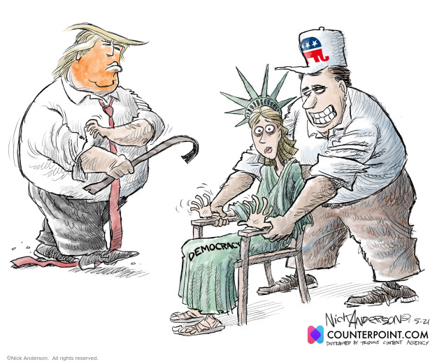 Nick Anderson  Nick Anderson's Editorial Cartoons 2021-01-05 Donald Trump Joe Biden