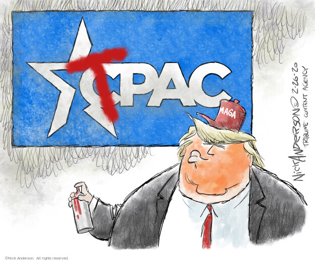 Nick Anderson  Nick Anderson's Editorial Cartoons 2021-02-26 Donald