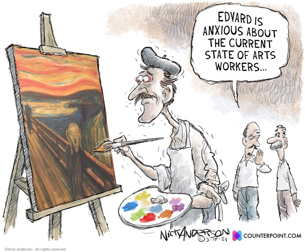 Nick Anderson  Nick Anderson's Editorial Cartoons 2021-03-15 Obamacare jobs