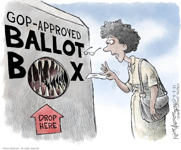 Nick Anderson  Nick Anderson's Editorial Cartoons 2021-04-09 suppression
