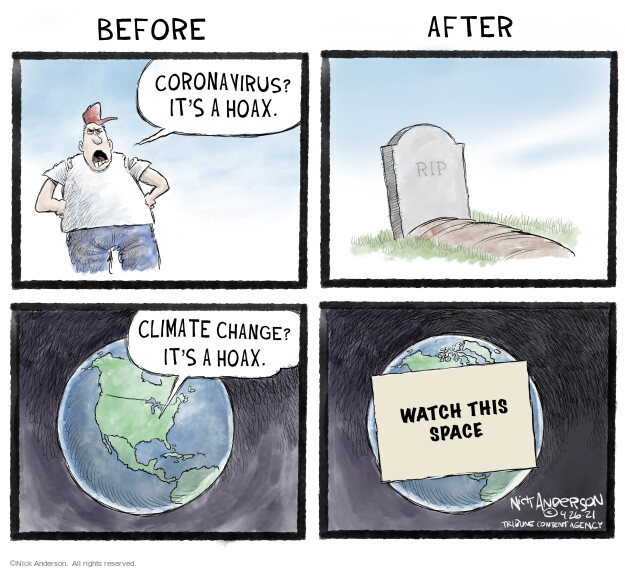 Nick Anderson  Nick Anderson's Editorial Cartoons 2021-04-26 pandemic