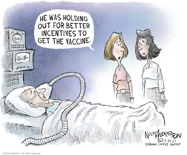 Nick Anderson  Nick Anderson's Editorial Cartoons 2021-05-20 pandemic