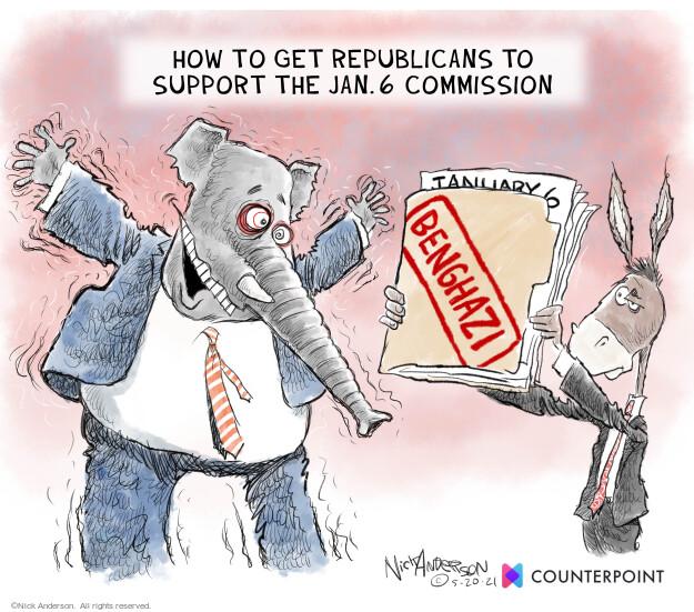 Nick Anderson  Nick Anderson's Editorial Cartoons 2021-05-20 insurrection