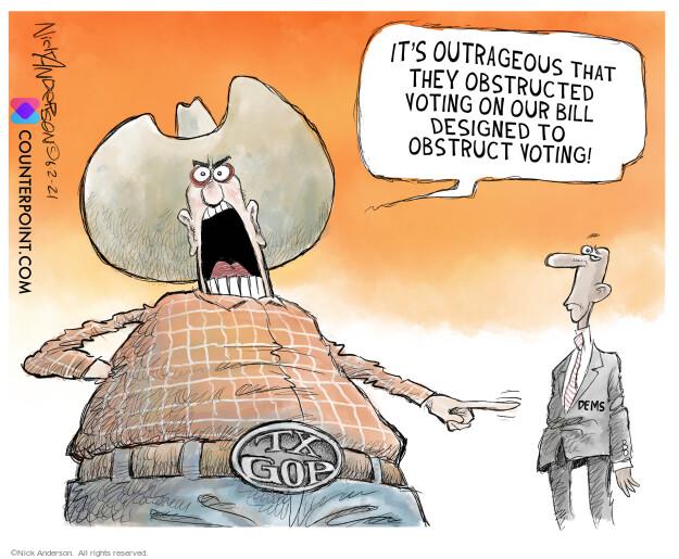 Nick Anderson  Nick Anderson's Editorial Cartoons 2021-06-02 suppression