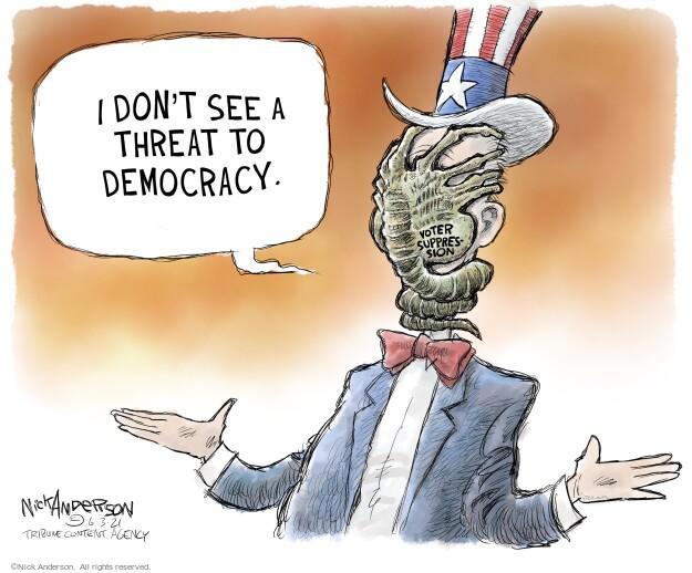 Nick Anderson  Nick Anderson's Editorial Cartoons 2021-06-03 suppression