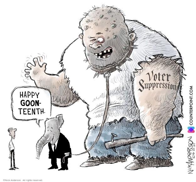 Nick Anderson  Nick Anderson's Editorial Cartoons 2021-06-22 suppression