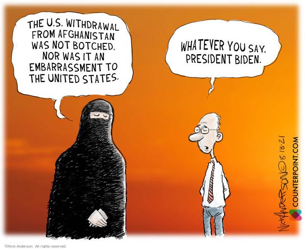 Nick Anderson  Nick Anderson's Editorial Cartoons 2021-08-18 violence