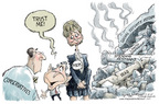 Cartoonist Nick Anderson  Nick Anderson's Editorial Cartoons 2005-10-18 big government
