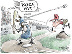 Cartoonist Nick Anderson  Nick Anderson's Editorial Cartoons 2006-11-08 baseball hit