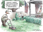 Cartoonist Nick Anderson  Nick Anderson's Editorial Cartoons 2007-07-03 gardening
