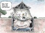 Cartoonist Nick Anderson  Nick Anderson's Editorial Cartoons 2008-09-09 finance