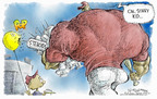 Cartoonist Nick Anderson  Nick Anderson's Editorial Cartoons 2004-12-08 baseball stadium