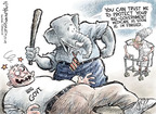 Cartoonist Nick Anderson  Nick Anderson's Editorial Cartoons 2009-09-25 big government