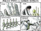 Cartoonist Nick Anderson  Nick Anderson's Editorial Cartoons 2014-08-15 press freedom