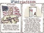 Cartoonist Nick Anderson  Nick Anderson's Editorial Cartoons 2015-04-16 rifle