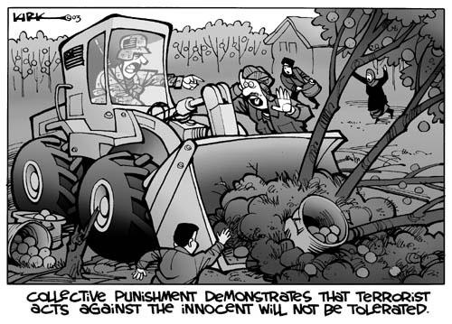 Kirk Anderson  Kirk Anderson's Editorial Cartoons 2003-10-05 bulldozer