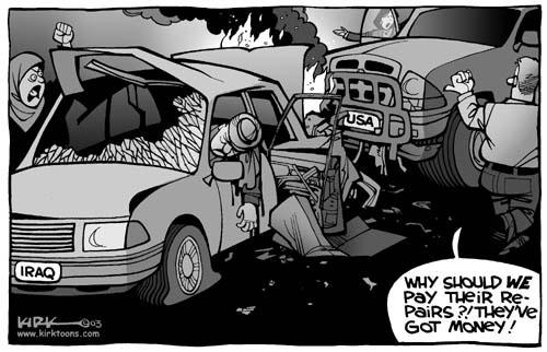 Kirk Anderson  Kirk Anderson's Editorial Cartoons 2003-10-27 infrastructure