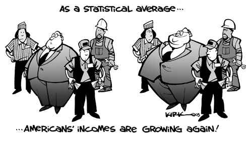 As a statistical average … Americans incomes are growing again!