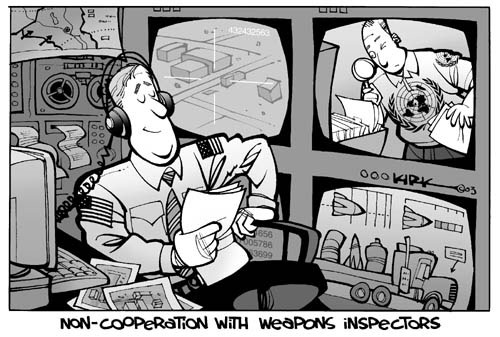 Non-cooperation with Weapons Inspectors.