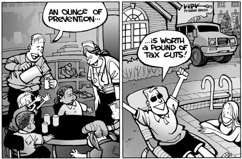 Cartoonist Kirk Anderson  Kirk Anderson's Editorial Cartoons 2003-02-14 tax